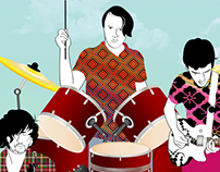 DUTCH UNCLES Music band, poster, illustration