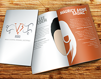 Bi-Fold Mini Portfolio Brochure Sample