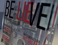 Be[lie]ve Exhibition Poster