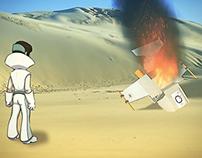 Cartoon character animation sample