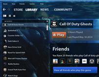 Steam Games UI Design