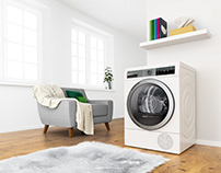 Bosch 3D visual - Clothes dryer for Allergy suffere