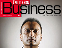 Outlook Business Magazine Cover Design