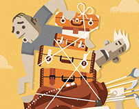 Up Airlines: Inflight Magazine Illustration