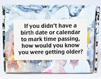 How do you know you're getting older? Book project.