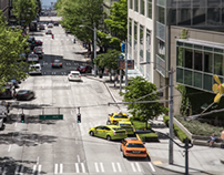 Traffic Time-lapse in Downtown Seattle