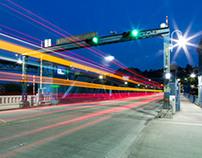 Night Traffic on Fremont Bridge