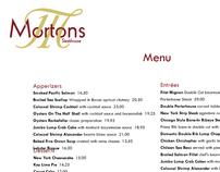 Morton's Menu/ Logo