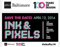 AIGA Baltimore Ink & Pixels Branding
