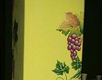 tralcio d'uva, murale.