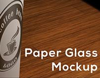 Paper Glass Mockup (Free)