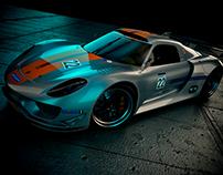 3D Render of Porsche 918 RSR -2012
