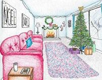 Xmas Room Sketch