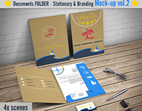 File Folder Mockup / Document Folder Mock-Up