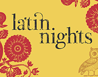 Latin Nights Night Owls promotional postcard