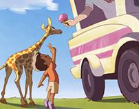 A Giraffe and his Boy