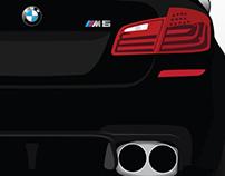 BMW M5 F10 Rear