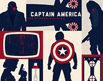 Captain America: The Winter Soldier (Minimalist Poster)