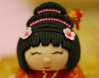Japanese Lady Fondant Figurinr