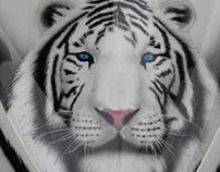 White tiger - Airbrush