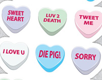 Collection of Conversation Hearts