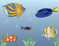 Free Vector Tropical Fish Pack