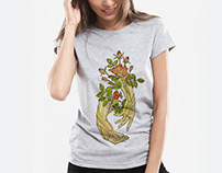 "T-shirt ""Flowers of life"""