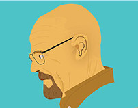 illustration of walter white
