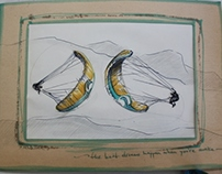 Paragliding sketches
