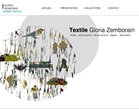 Web design for a textile designer