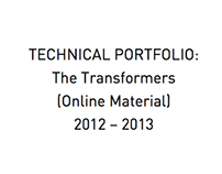 Technical Portfolio: The Transformers (Online Material)