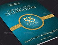 Church Anniversary Program Cover Template