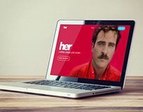 Her (film) Website Redesign