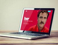 Her (film) Website Redesign