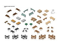 FREE - ISOMETRIC URBAN FURNITURE BUNDLE #1