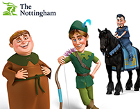 Nottingham Building Society 3D Characters