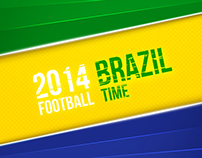 Colorful background for Brazil 2014 Football World Cup