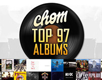 CHOM's Top 97 Albums Poster