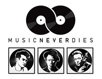 MUSIC NEVER DIES - Lazer Cut Vinyl Record Portraits