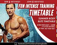 Fun Intense Training Facebook Cover Design