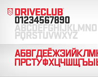 DRIVECLUB: Localised Cyrillic Font