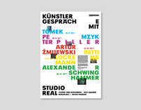 Poster for a lecture series called «Studio Real»