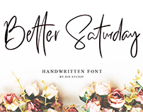 FREE | Better Saturday Handwritten Typeface