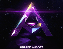 Mbarek Amsoft 3D Polygon Logo