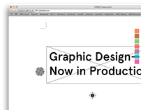 Graphic Design — Now in Production Website