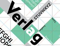 Verlag Type Specimen