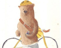 Water Colour Hipster Bears