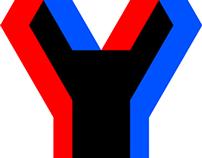 Geometric Semi-Anaglyph Logo Design for YuuGo