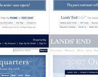 Lands End Online Winter Catalog 07