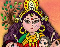 Shashthi Goddess (Amar Chitra Katha)